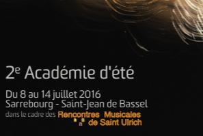 académie d'été 2016